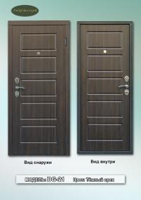 """Бюджетні вхідні двері  """"Gardian 15.12"""" Модель:DG-21  Темний горіх"""