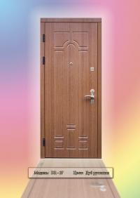 """Елітні броньовані двері """"DR-27"""" колір: Натуральний дуб"""